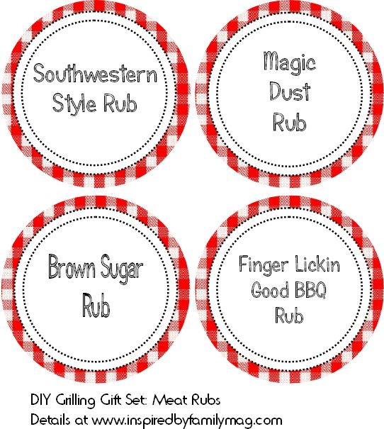 DIY Grilling Gift Set: Meat Rub Recipes & Printable - Inspired by Familia