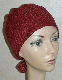 Free pattern for the chemo hat.