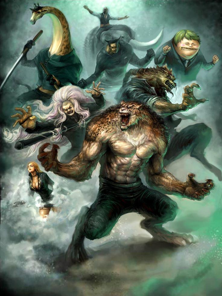 CP9 arc - Rob Lucci, Kaku, Jabra, Blueno, Kumadori, Fukuro, Kalifa, Spandam, Funkfreed (elephant-sword) One piece art