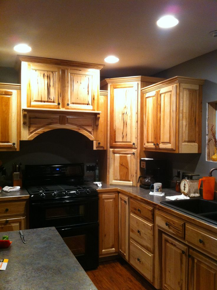 Superior Mikes Country Kitchen Part - 12: Bird Peck Hickory Kitchen Cabinets.