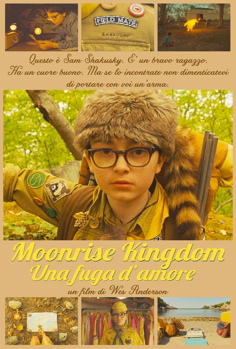 Il poster dedicato a Sam di Moonrise Kingdom - Una fuga d'amore di Wes Anderson