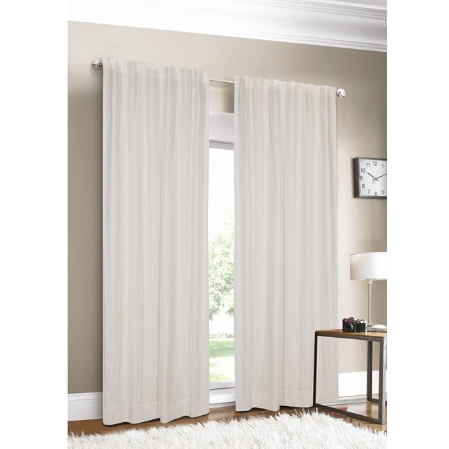 Perfect Luxury White 100 Percent Flax Linen Curtain Panel (Single)