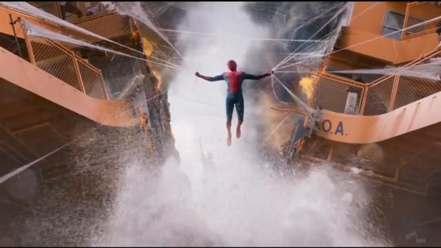 Spider-Man: Homecoming first trailer unveils Spidey's new suit, with the help of Iron Man.