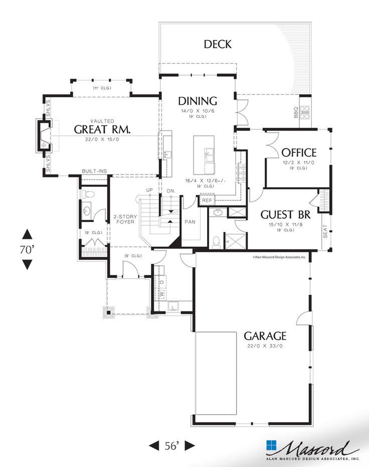Mascord Floor Plans Part - 39: Main Floor Plan Of Mascord Plan 2387 - The Iverson - Easy Living On Two  Floors