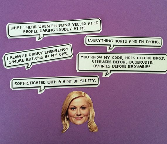 leslie knope quotes stickers 265 cards leslie knope