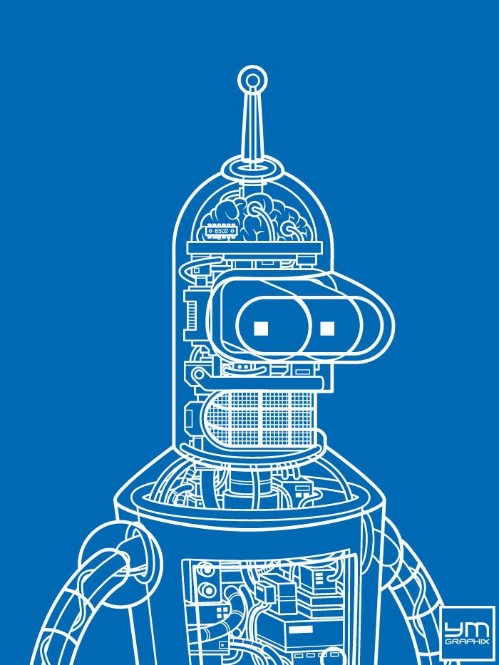 Bender Robot Blueprint Robot
