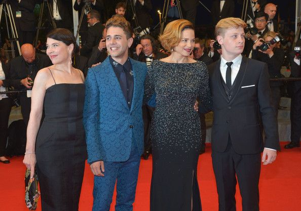 Actress Anne Dorval,  director Xavier Dolan and actors Suzanne Clement and Olivier Pilon attend the 'Mommy' premiere during the 67th Annual Cannes Film Festival on May 22, 2014 in Cannes, France.