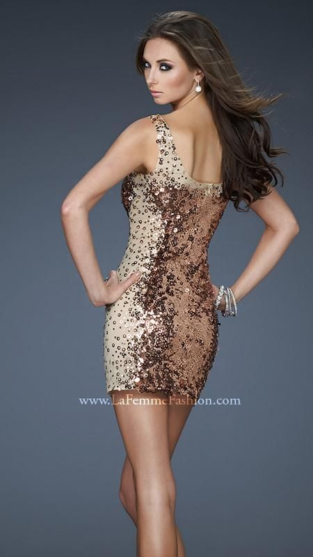 { 18242 | La Femme Fashion 2013 } La Femme Prom Dresses - Sequins - Illusion
