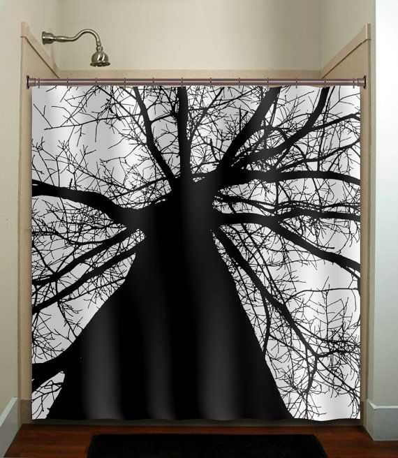 black and white bathroom window curtains black trunk tree shower curtain bathroom decor fabric 25124