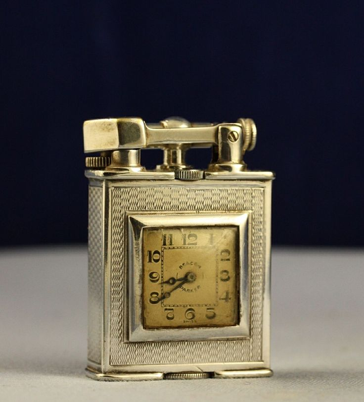 Vintage 1930s Silver Alfred Dunhill Patent 143752 Parker Beacon Clock Lighter | eBay