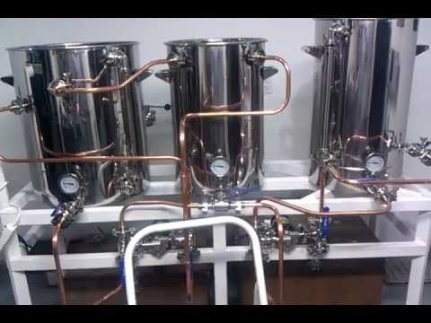 HERMS Brewery with Chugger Pumps - YouTube