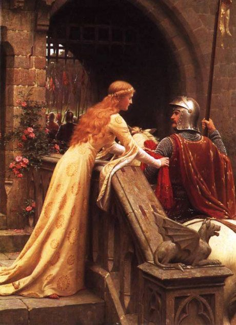 """PICTURE: """"God Speed!"""" (1900) by Edmund Blair Leighton 