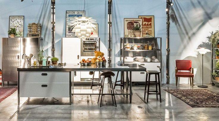 Contemporary kitchen island CONVIVIO ALPES-INOX