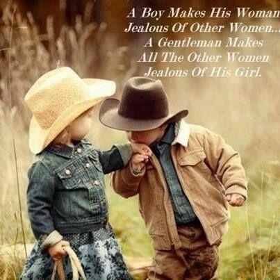 """""""Un gars rend sa femme jalouse des autres femmes. Un gentleman rend toutes les autres femmes jalouses de la sienne"""" So true !"""