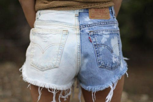 Bleach only one leg of the shorts to achieve a contrasting look. | A Comprehensive Guide To Making The Cutoffs Of Your Dreams