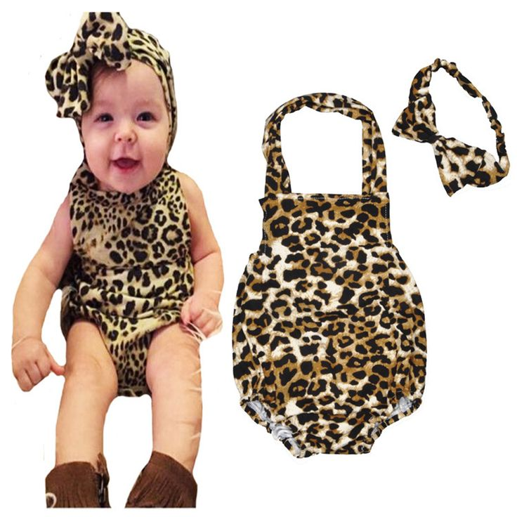 >> Click to Buy << Leopard Print Baby Bodysuits 2016 Summer Girls Cotton One-Pieces Bodysuit with Hair Band Toddler Clothing Bodysuit for Infants #Affiliate