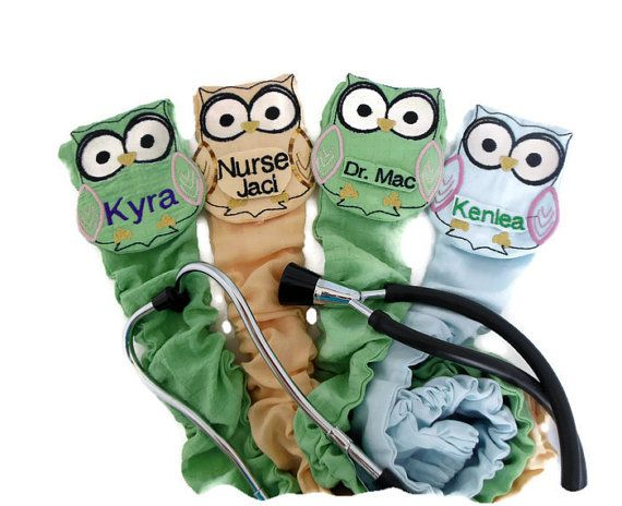 Personalized Stethoscope Cover Owl Pattern  Uniquely by myscap