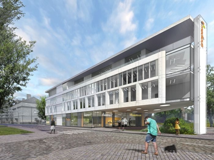 Lower Silesian Centre for Laryngology and Plastic Surgery - small clinic in Wrocław, Poland - design by Archimed Architecture - hospital, rendering
