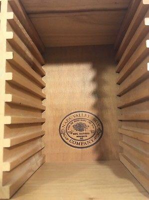 napa valley wood wooden 36 cd storage box case holder