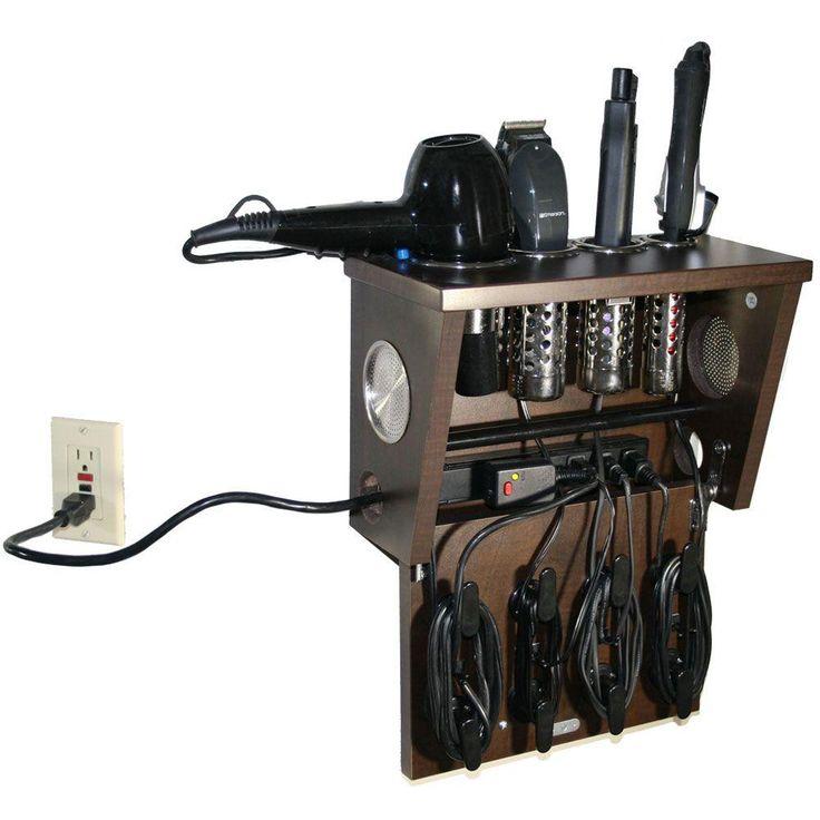 Pojjo Wall Mount Hair Appliance Storage System In Java