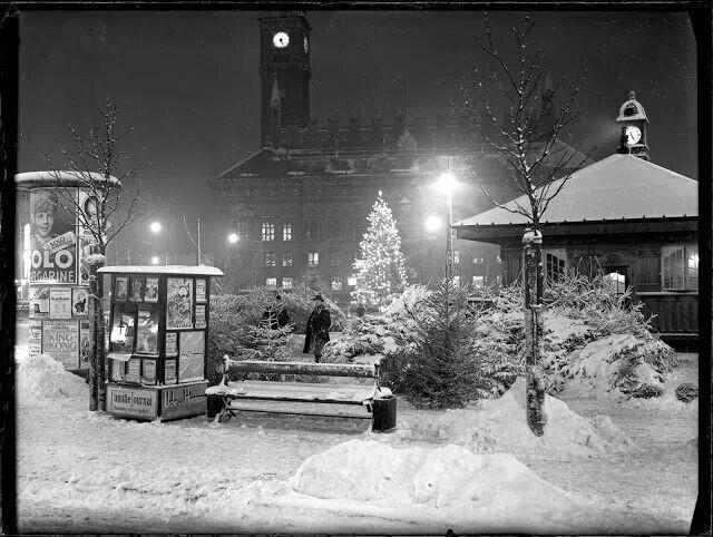 Jul på Rådhuspladsen 1930