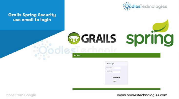 #Grails #Spring #Security use #email to #login  #webdevelopment #groovygrails