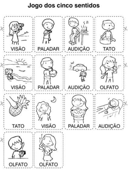 Paraíso da Alfabetização: Jogo dos cinco sentidos