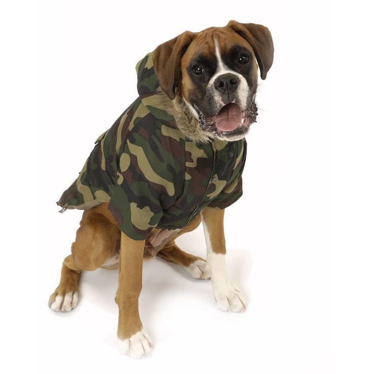 Nosy Dog Parka in Camouflage £34.99 #dograincoat #dogcoat