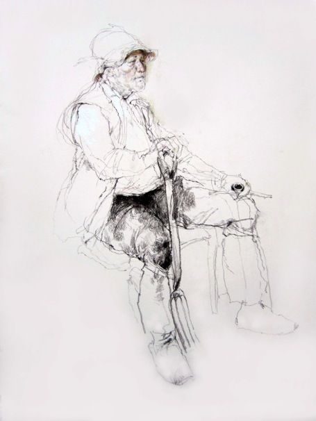 Drawings from Life - The Gardener by Victor Ambrus