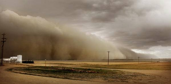 """June 9, 2013 - All of a sudden, it's like the """"Dirty '30s"""" in Colorado. Massive dust storms have hit the southeast part of the state. People have been trapped in their homes and praying for rain.     Photo: John and Jane Stulp witnessed this massive dust storm approaching their farm near Lamar. (Jane Stulp, Special to The Denver Post)"""