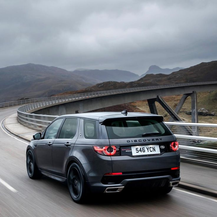 The Land Rover Discovery Sport With Its Suspension Lowered