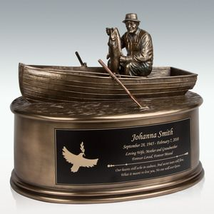 Fisherman Cremation Urn - Engravable