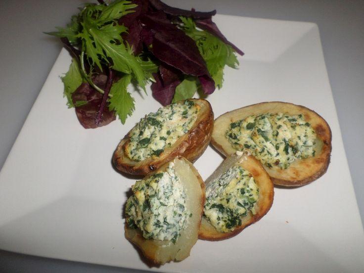 Spinach & Ricotta Potato Shells