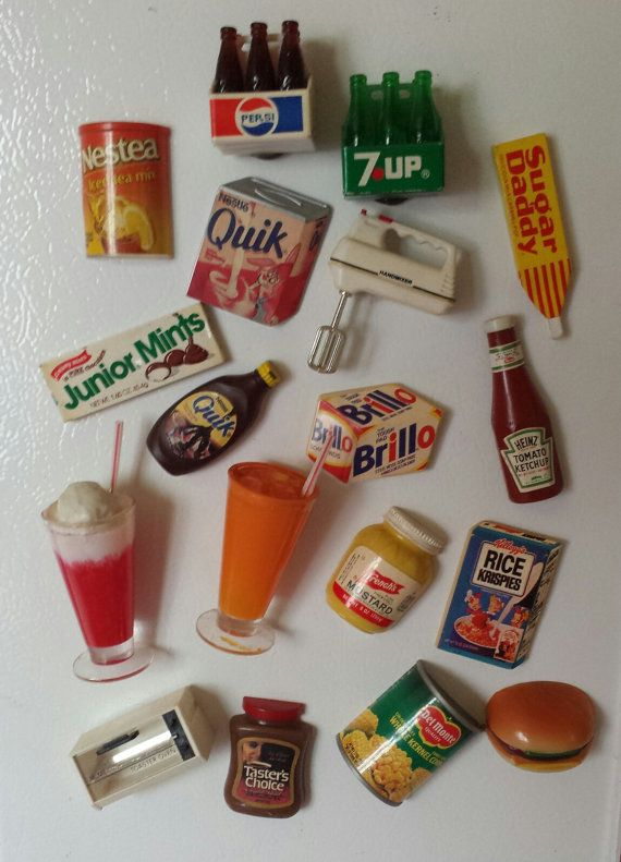 Lot of 18 1970s Vintage Refrigerator Magnets by vintarama on Etsy