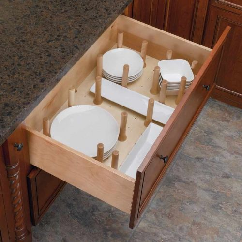 Rev-A-Shelf Medium Drawer Peg System-Wood 4DPS-3021   CabinetParts.com