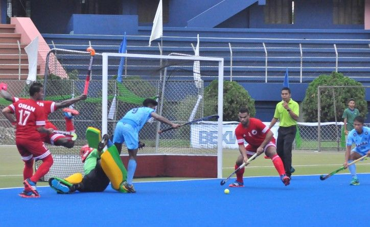 IND Vs OMA #hockey #india #oma #win #match #sports