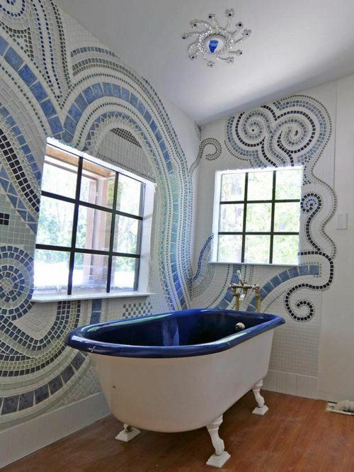 Badezimmer Und Badezimmerfliesen Farben Designs Badewanne