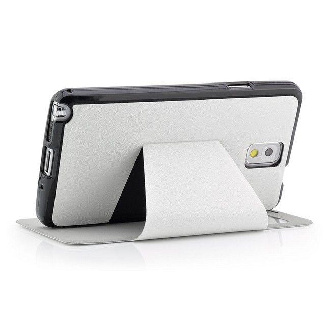 Cross Flip Tasche für Samsung Galaxy Note 3 Weiß