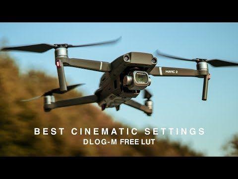 34) DJI MAVIC 2 PRO | BEST CINEMATIC SETTINGS | H 265 DLOG-M + FREE