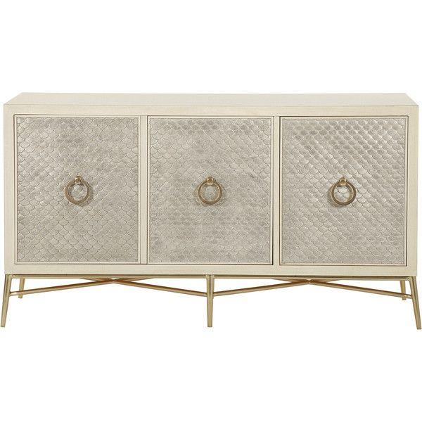 Oriana Modern Alabaster Silver Leaf Panel Media Cabinet ($2,537) ❤ liked on  Polyvore featuring · Media FurnitureModern FurnitureAntique White ... - 12 Best Jean-Louis Deniot Collection For Baker Furniture Images On