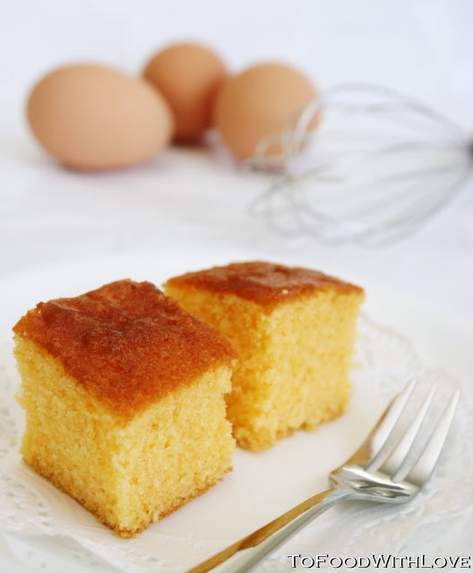 To Food with Love: One-bowl Custard Cake