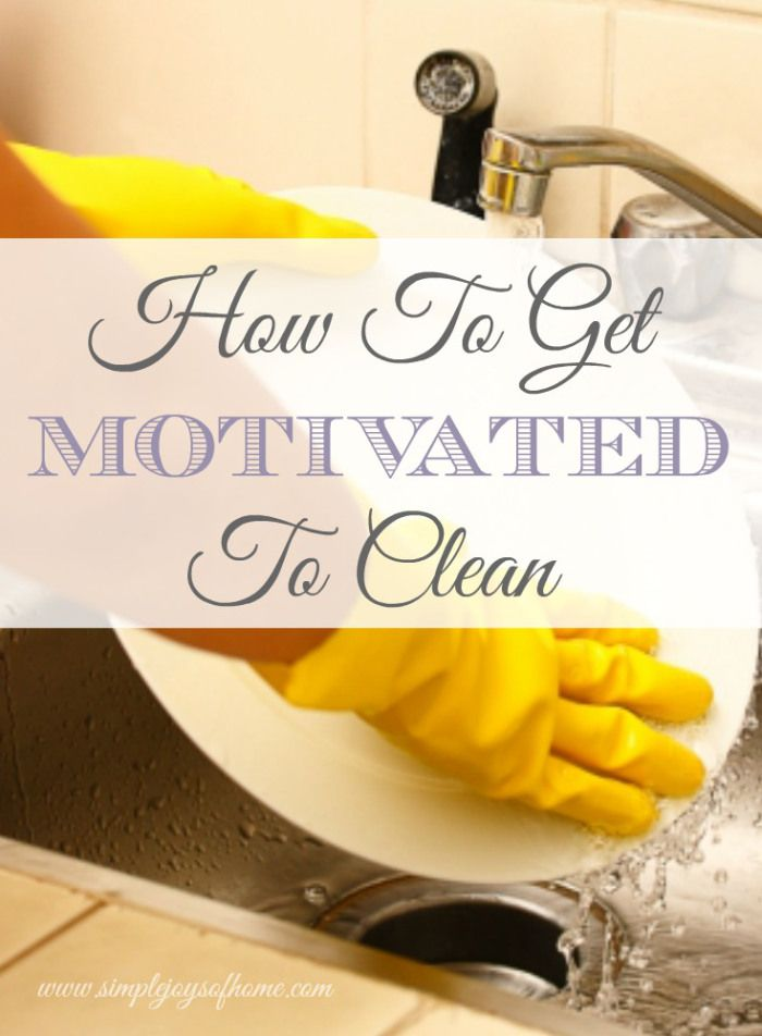 I love homemaking, but sometimes I'm really not motivated to clean my house. We all love having clean homes, but don't enjoy the process of getting them that way. Here are some tips that may help. How To Get Motivated To Clean | Simple Joys Of Home