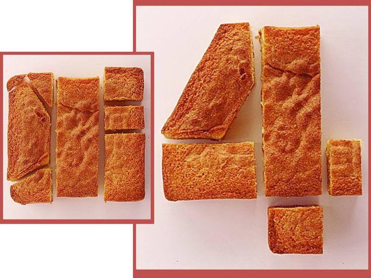 bolo em forma de numero 4 - Pesquisa Google