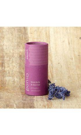 Levandule a tea tree - přírodní deodorant Ponio. Využijte naší dopravy zdarma při nákupu  nad 890 Kč nebo výdejního místa v Praze zdarma.