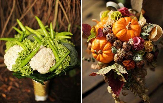 Осенние букеты с овощами и фруктами: 5 идей для начинающего флориста
