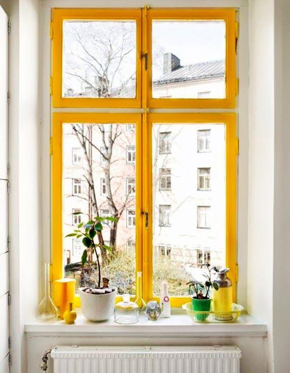 Janelas com esquadrias coloridas! Por que não pensamos nisso antes? - dcoracao.com - blog de decoração // yellow