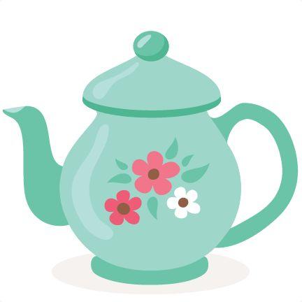 Tea Pot SVG scrapbook cut file cute clipart files for ...