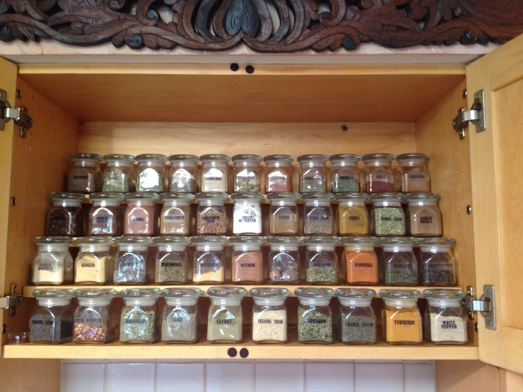117 best images about kruiden kast herbs storage on for Ideas organizing kitchen cabinets