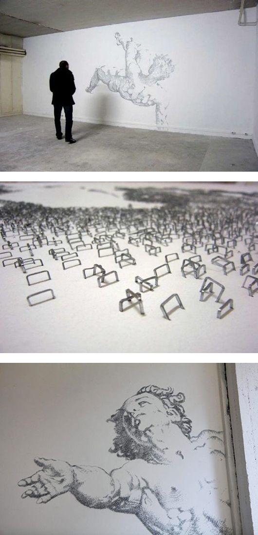 Incredible Staple Art by Baptiste Debombourg   Inspiration Grid   Design Inspiration