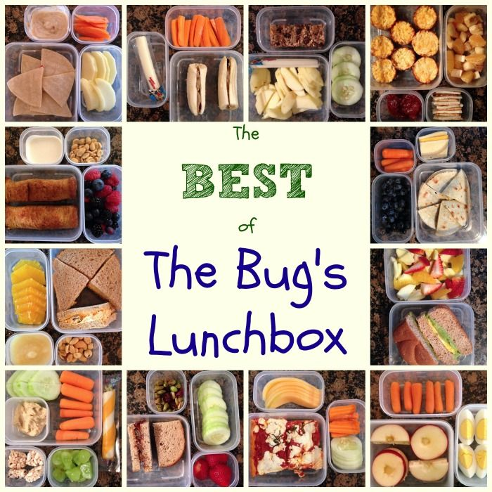 The Best of The Bug's Lunchbox - healthy, fun, creative, but still quick and easy kids lunch ideas from cupcakesandkalechips.com